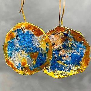 Matana handmade Gold trim light weight earrings